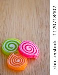 fruit jelly roll with sprinkle... | Shutterstock . vector #1120718402