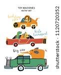 set of children's machines.... | Shutterstock .eps vector #1120720352