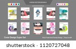 abstract white a4 brochure... | Shutterstock .eps vector #1120727048