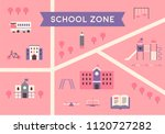 school zone map flat design... | Shutterstock .eps vector #1120727282