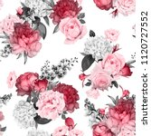 seamless floral pattern with... | Shutterstock .eps vector #1120727552