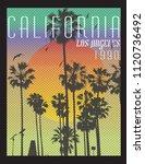 los angeles.california.sunset... | Shutterstock .eps vector #1120736492