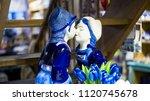 delft blue sculpture of young... | Shutterstock . vector #1120745678
