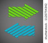 two straight arrow ribbon. 2... | Shutterstock .eps vector #1120754342