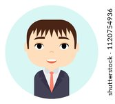 man avatar with smiling faces.... | Shutterstock .eps vector #1120754936