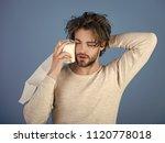 advertising toilet paper.... | Shutterstock . vector #1120778018