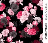 seamless floral pattern with... | Shutterstock . vector #1120779518
