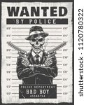 wanted modern poster with... | Shutterstock .eps vector #1120780322