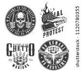 set of gangster emblems in... | Shutterstock .eps vector #1120780355