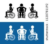 handicapped man or disabled... | Shutterstock .eps vector #1120781192