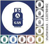 camping gas bottle icon. flat... | Shutterstock .eps vector #1120788482
