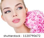 young beautiful woman with... | Shutterstock . vector #1120790672