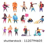 criminal character set of... | Shutterstock .eps vector #1120794605
