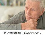 portrait of  sad senior man at...   Shutterstock . vector #1120797242
