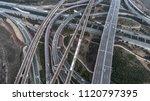 aerial view of railway  highway ...   Shutterstock . vector #1120797395
