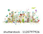 colorful metropolis  abstract... | Shutterstock .eps vector #1120797926