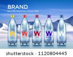 set of mineral water bottles... | Shutterstock .eps vector #1120804445