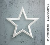 a white star on the concrete... | Shutterstock .eps vector #1120808918