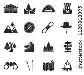 hiking icons. black scribble...   Shutterstock .eps vector #1120818395