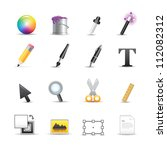design editor tool icons   Shutterstock .eps vector #112082312