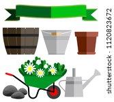 garden containers  gardening...   Shutterstock .eps vector #1120823672