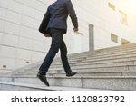 confident ambitious businessman ... | Shutterstock . vector #1120823792