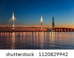 cable stayed bridge of western... | Shutterstock . vector #1120829942