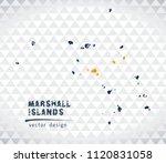 marshall islands vector map... | Shutterstock .eps vector #1120831058