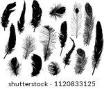 illustration with sixteen black ... | Shutterstock .eps vector #1120833125