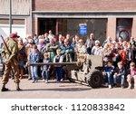 Small photo of Netherlands,Limburg,Terwinselen, july 2016: Reenact of the evaquatie of Terwinselen in 1944