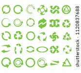 green round recycle collection... | Shutterstock . vector #1120837688