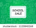 school sale banner with line... | Shutterstock .eps vector #1120840268