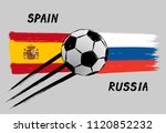 flags of spain and russia  ... | Shutterstock .eps vector #1120852232