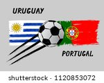 flags of uruguay and portugal   ... | Shutterstock .eps vector #1120853072