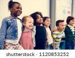 happy kids at elementary school | Shutterstock . vector #1120853252