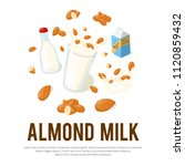 almond milk vector... | Shutterstock .eps vector #1120859432