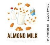 almond milk vector... | Shutterstock .eps vector #1120859432