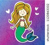 cute magic summer magic mermaid ... | Shutterstock . vector #1120863332