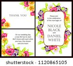 invitation with floral... | Shutterstock . vector #1120865105