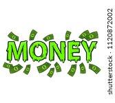 money cartoon text  green... | Shutterstock .eps vector #1120872002