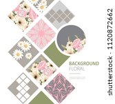 floral background design with... | Shutterstock .eps vector #1120872662