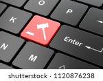 law concept  computer keyboard...   Shutterstock . vector #1120876238