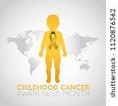 childhood cancer awareness...   Shutterstock .eps vector #1120876562
