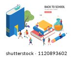 back to school  books ... | Shutterstock .eps vector #1120893602