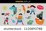 pirate collection of hand drawn ... | Shutterstock .eps vector #1120893788