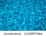 pure pool water background with ... | Shutterstock . vector #1120897466