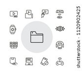 discovery icons. set of  line... | Shutterstock .eps vector #1120902425