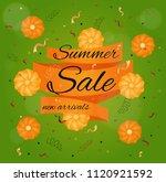 summer sale. vector card.   Shutterstock .eps vector #1120921592
