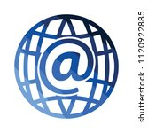 global e mail icon. flat color...