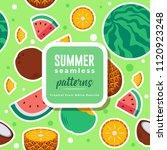 summer seamless patterns  ...   Shutterstock .eps vector #1120923248